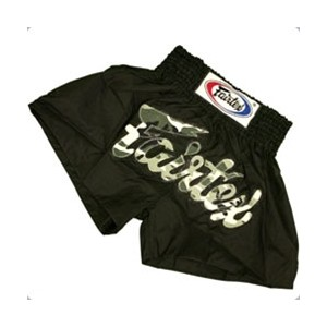 Black Nylon Muaythai Shorts With Camo Fairtex