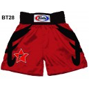 BT28 Red Satin Boxing Shorts