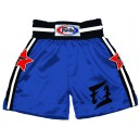 BT17 Blue Satin Boxing Shorts