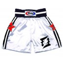 BT16 White Satin Boxing Shorts